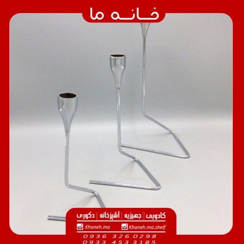 جا شمعی فلزی 3 تیکه هندسی