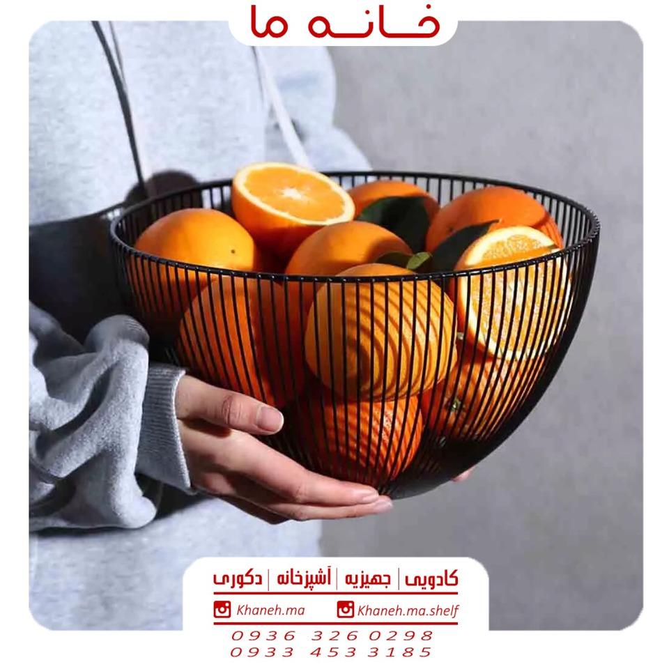 سبد میوه فلزی مدل گرد والریا