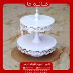 ظرف شیرینی خوری دو طبقه ایکیا سفید