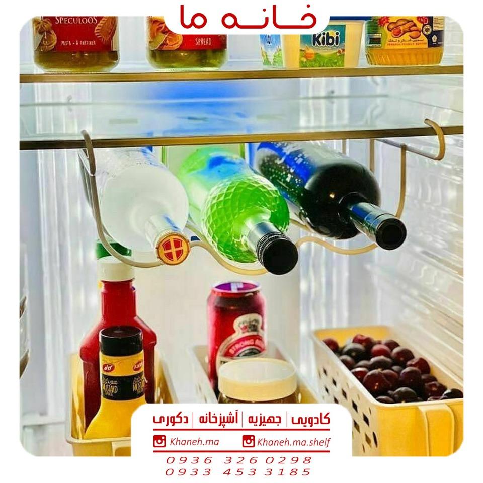 جا بطری داخل یخچال سفید