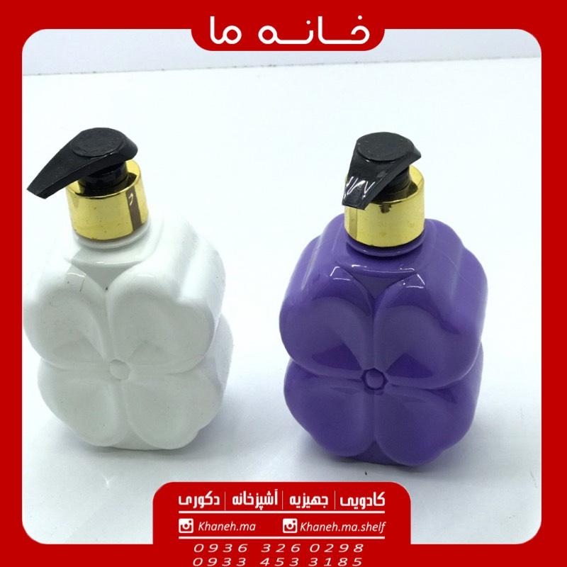 جا مایع دستشویی پلاستیکی طرح گل