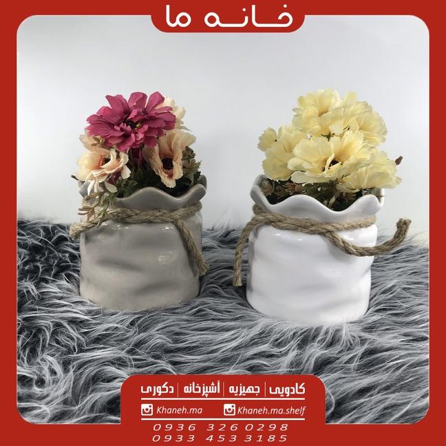گلدان سرامیکی طرح سنگی