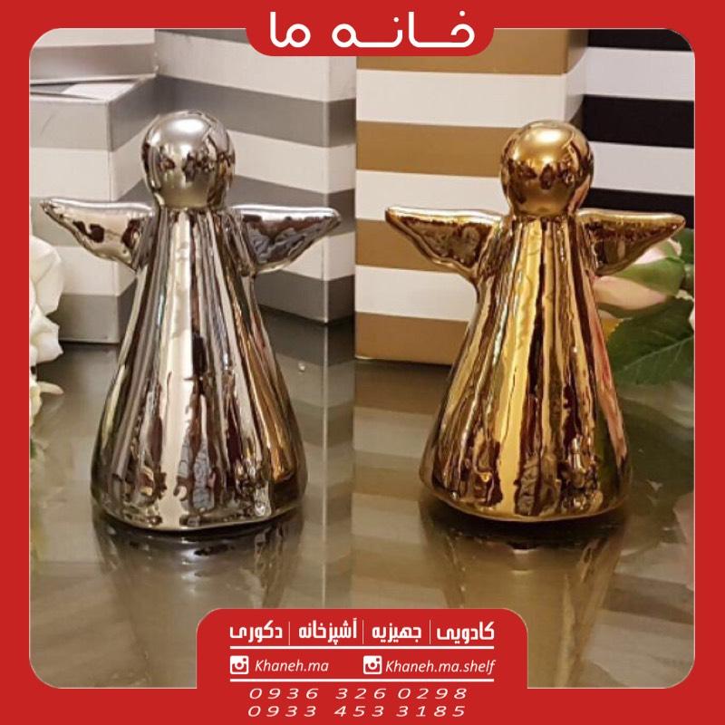 مجسمه فرشته آنجل طلایی و نقره ایی