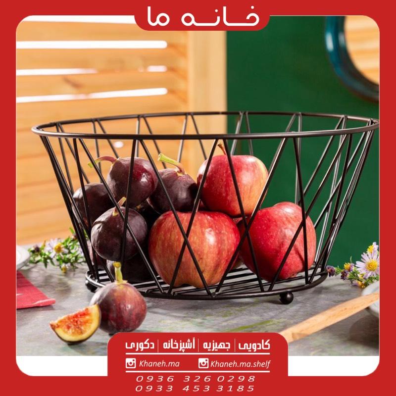 سبد میوه فلزی لوزی مدل 2kia