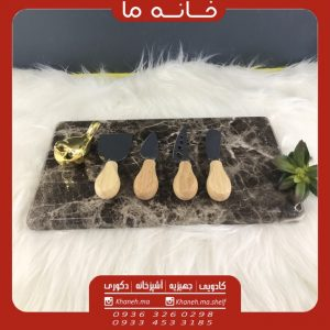 ست کارد پنیر خوری مدل دسته چوبی x512