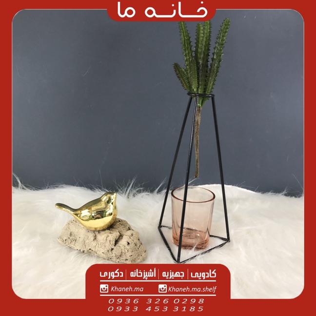 گلدان فلزی مدل مثلث انزو