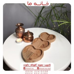 ظروف اردو خوری بامبو قلب 3 تایی