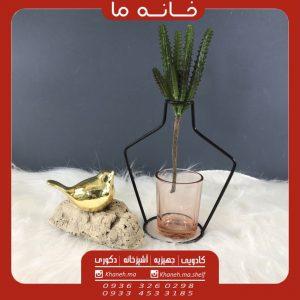 گلدان رومیزی فلزی انزو مدل بطری کوچک