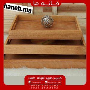 سینی چوبی مستطیل مدل woodmen x124