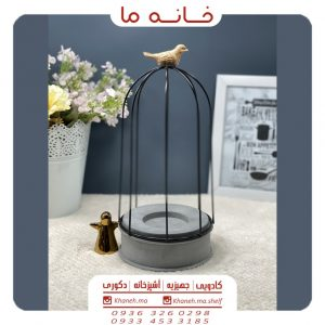 جاشمعی دکوری طرح قفس و پرنده مدل q42