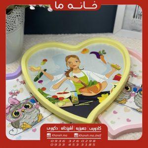 سینی پلاستیکی قلبی