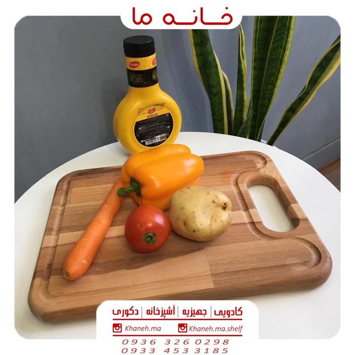 ظروف اردو خوری بامبو مدل تخته گوشت t28