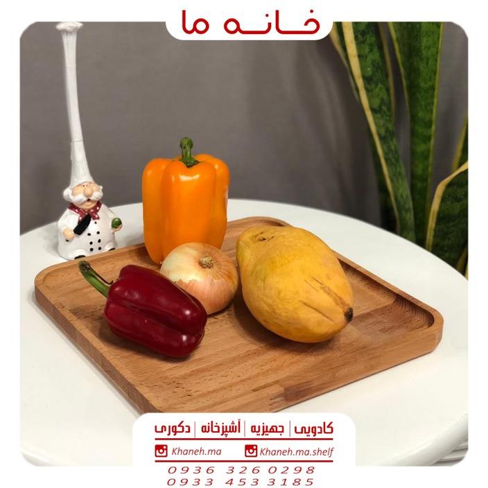 ظروف اردو خوری بامبو مدل سینی مربع